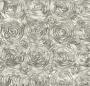 Silver Satin Rosette