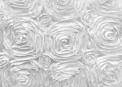 White Satin Rosette